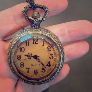 Unique Pocket Watch Necklace